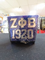 Zeta Phi Beta Square Hitch Cover (2 Styles)